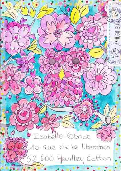 Hibou fleuri