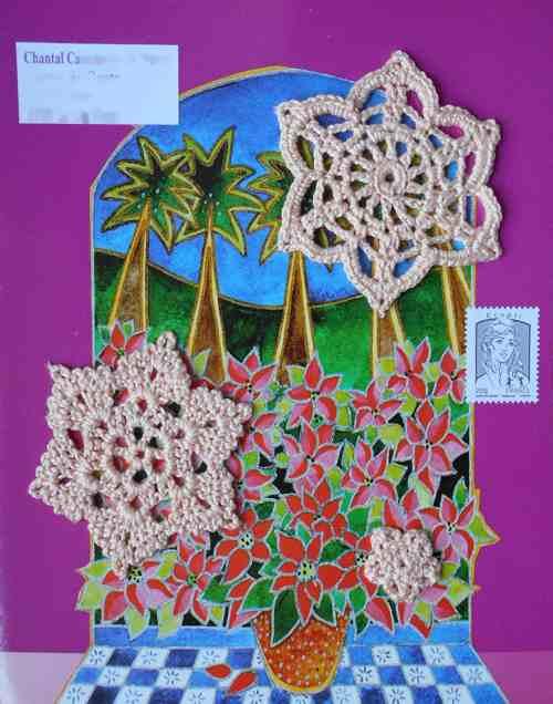 fleurs et palmiers