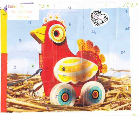 calendrier de l'avent poulette