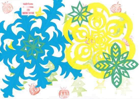 étoiles de papier