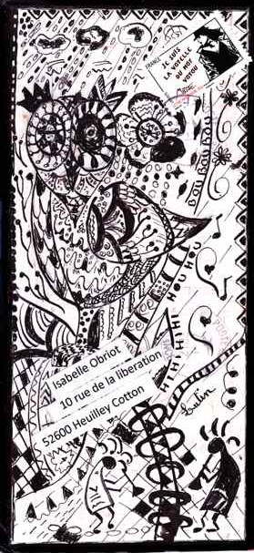 hibou zentangle